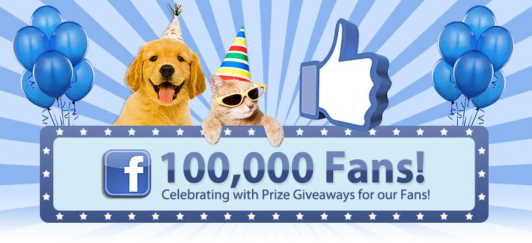 Facebook 100,000 Fans Giveaway!