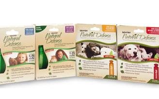 Group shot of natural defense flea control products