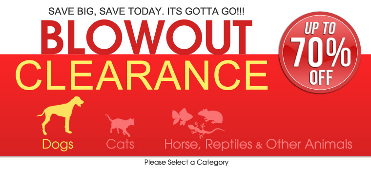 Clearance blowout pet supplies sale for Clearance craft supplies sale