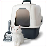 Petmate Deluxe Hooded Pan Set with Microban Jumbo