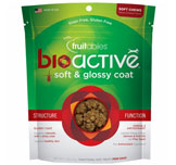 Fruitables BioActive Soft & Glossy Coat Dog Treats