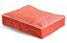 Dog Eared Pet Bed - Persimmon