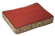 Molly B. Pet Bed - Herringbone Cardinal