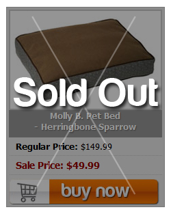 Molly B. Pet Bed - Herringbone Sparrow