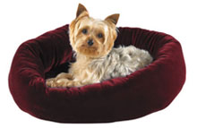 Slumber Pet Velour Snuggler Bed Burgundy