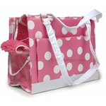 Petmate SS Carrier Pampered Pink/Polka Dots - SMALL