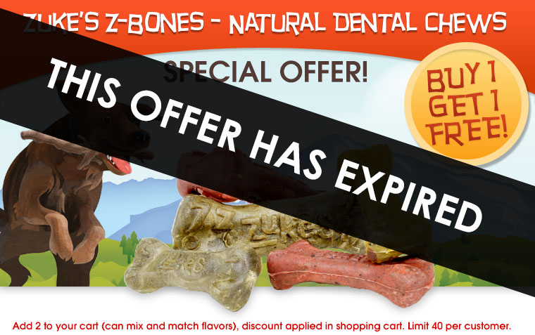 Zuke's Z-Bone Carrot Crunch Special Offer!