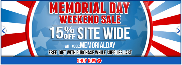 Memorial Sale 15% off