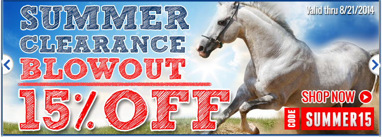 Summer Blowout for Horse Products