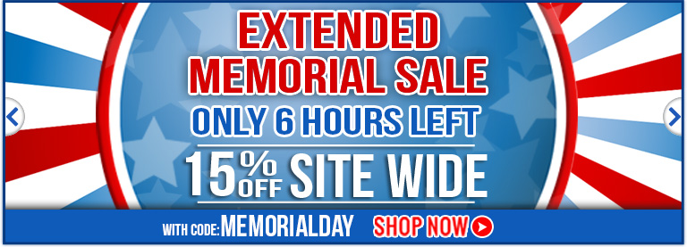Memorial Sale 15% off Extended!